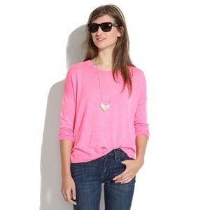 MADEWELL   Pink Dyed Linen Top   L